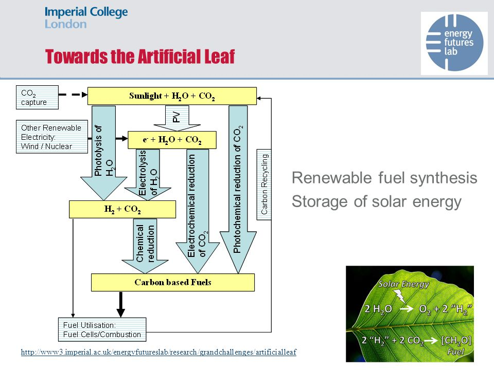 Towards the Artificial Leaf