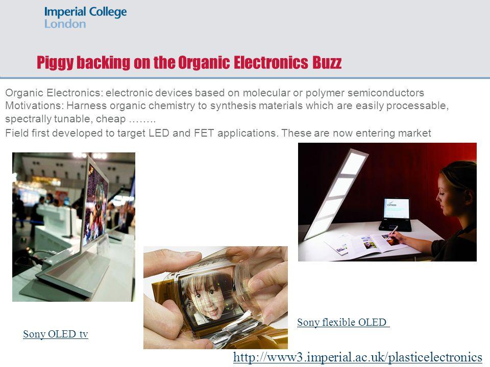 Piggy backing on the Organic Electronics Buzz