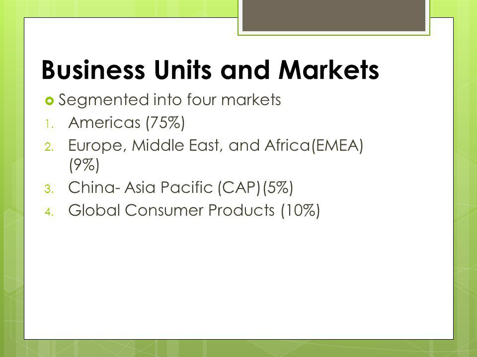 Business Units and Markets