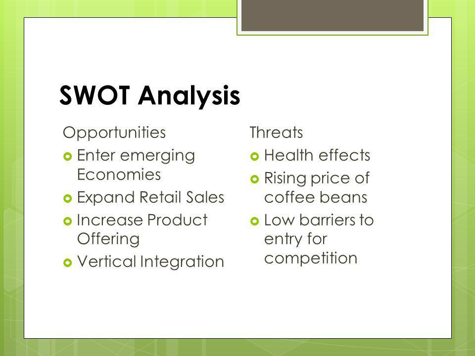 SWOT Analysis Opportunities Enter emerging Economies