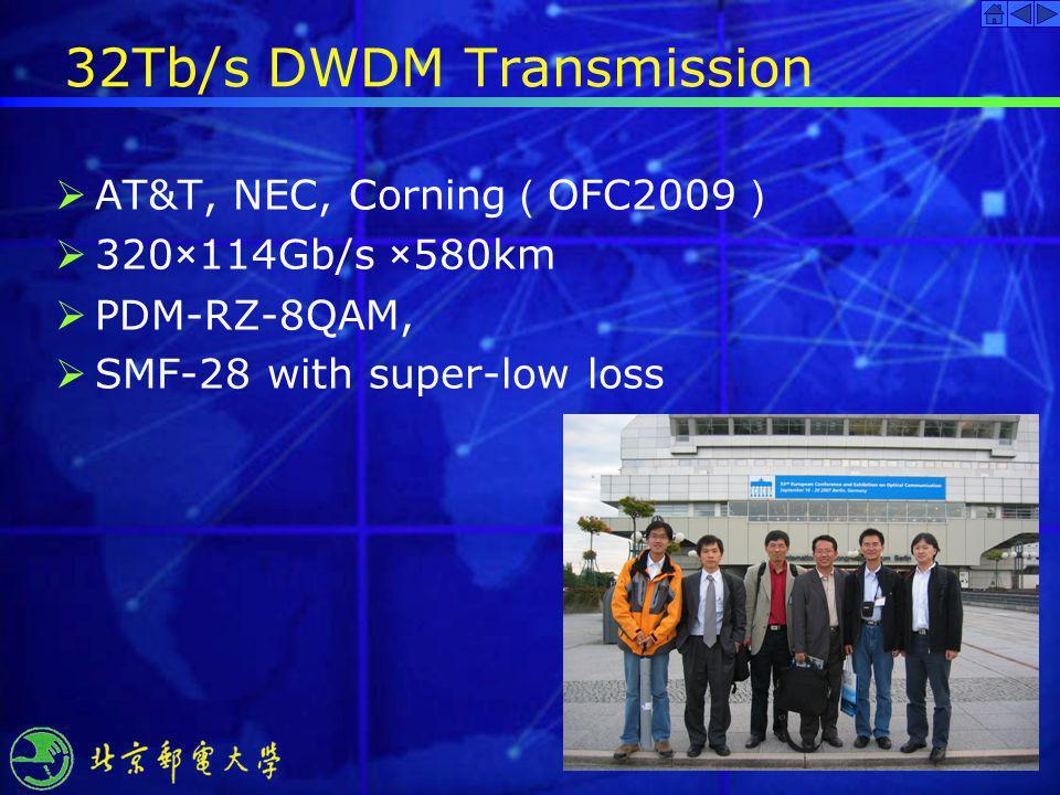 32Tb/s DWDM Transmission