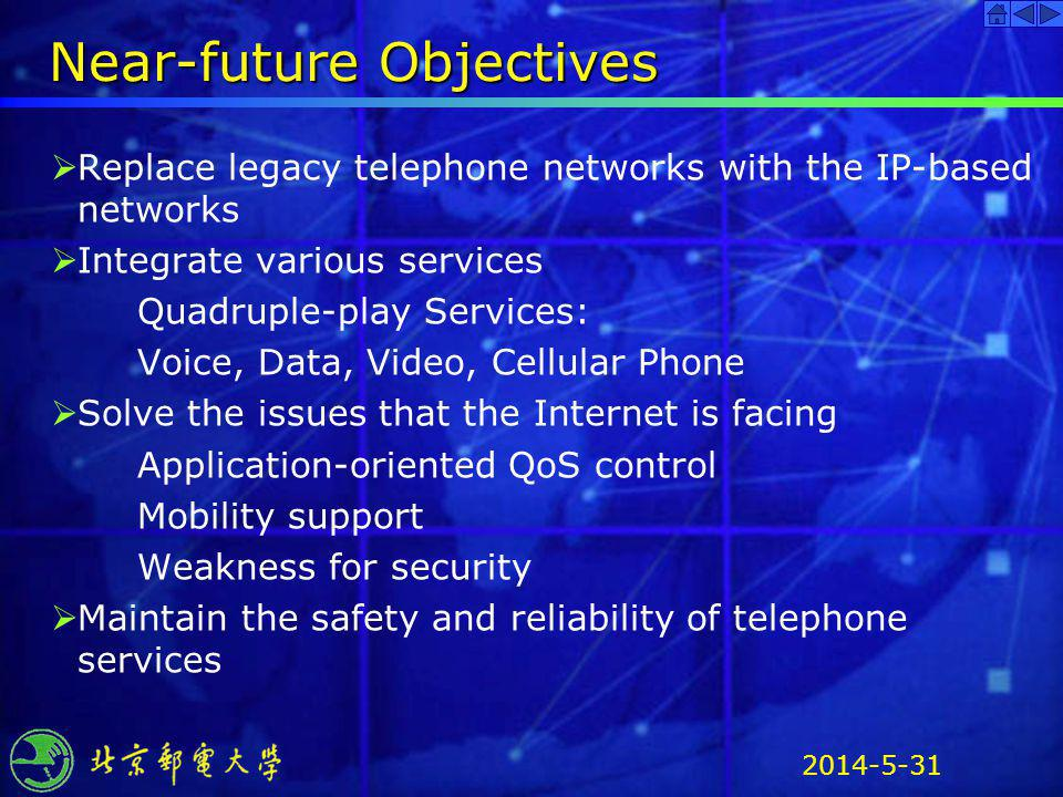 Near-future Objectives