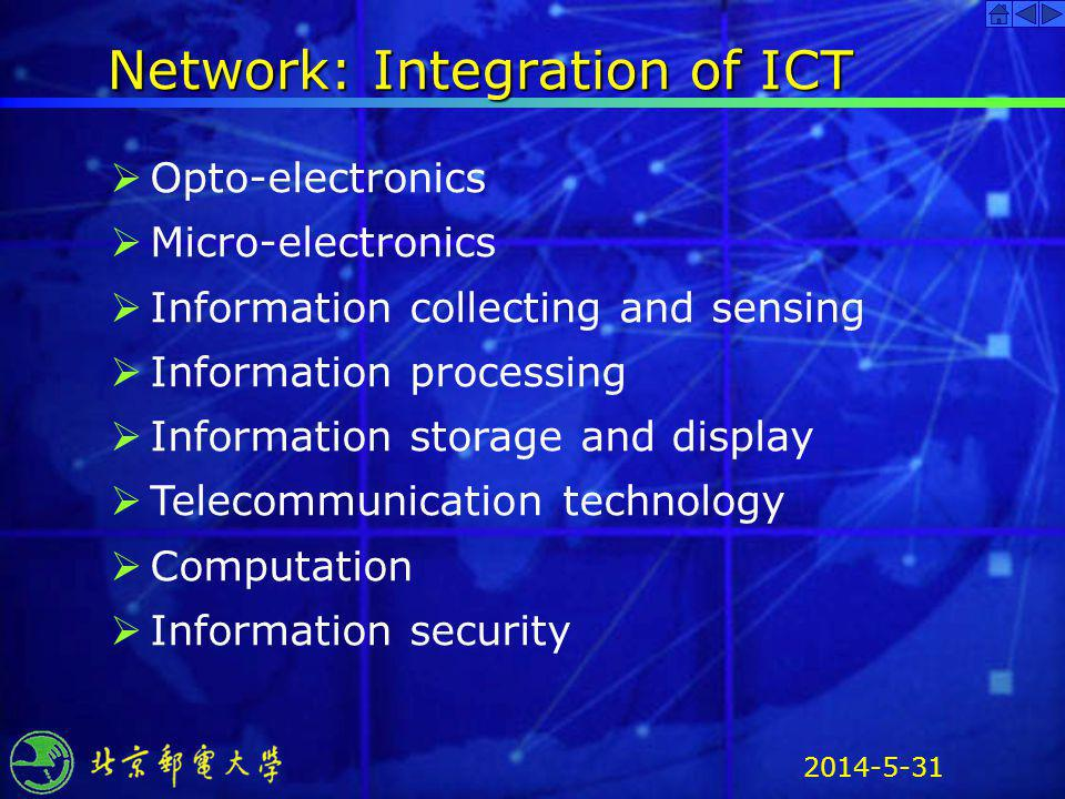 Network: Integration of ICT