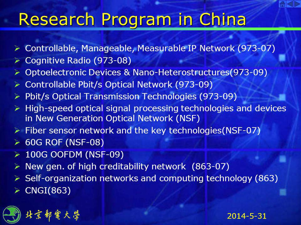 Research Program in China