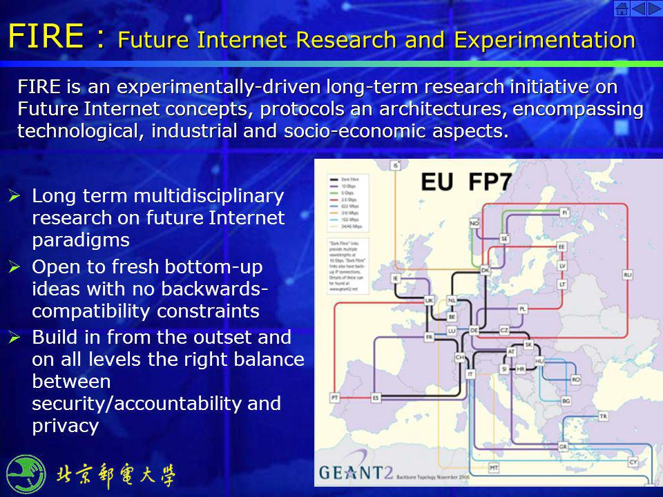 FIRE:Future Internet Research and Experimentation
