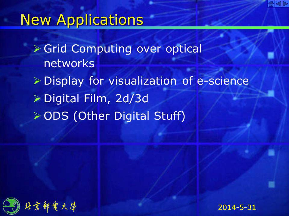 New Applications Grid Computing over optical networks