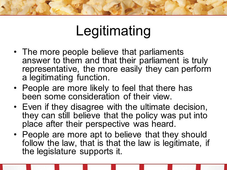 Legitimating
