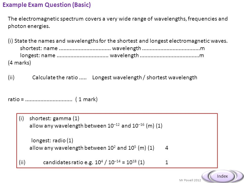 Example Exam Question (Basic)