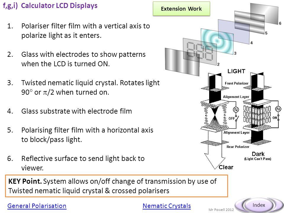 f,g,i) Calculator LCD Displays
