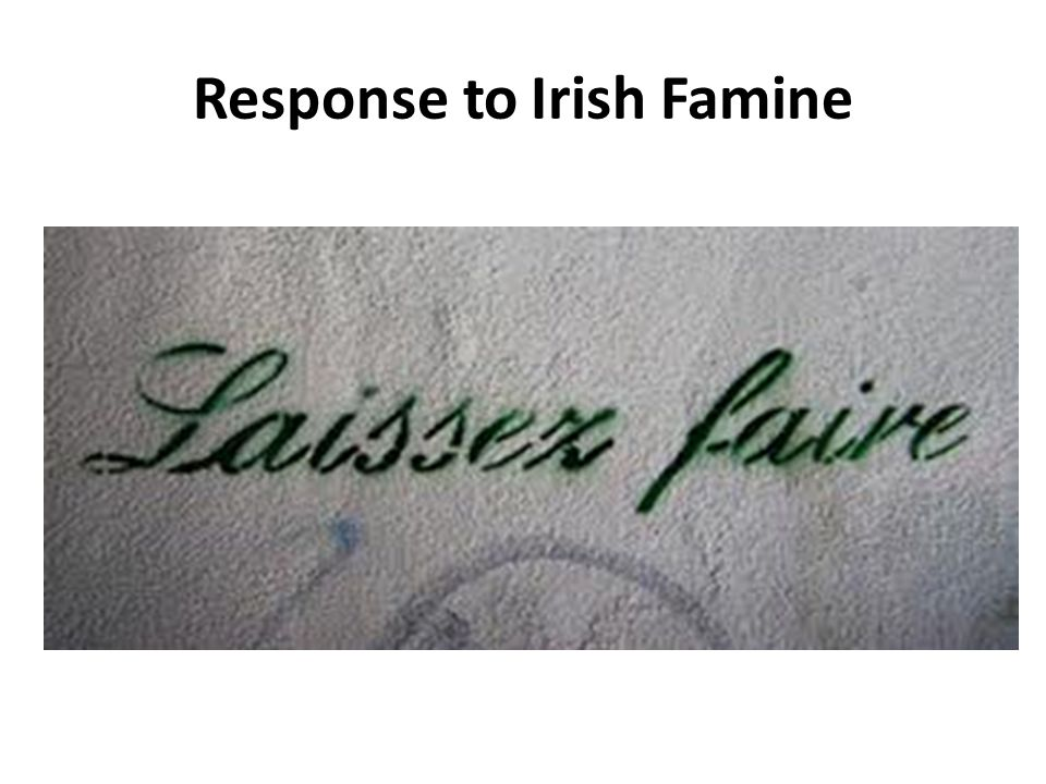 Response to Irish Famine