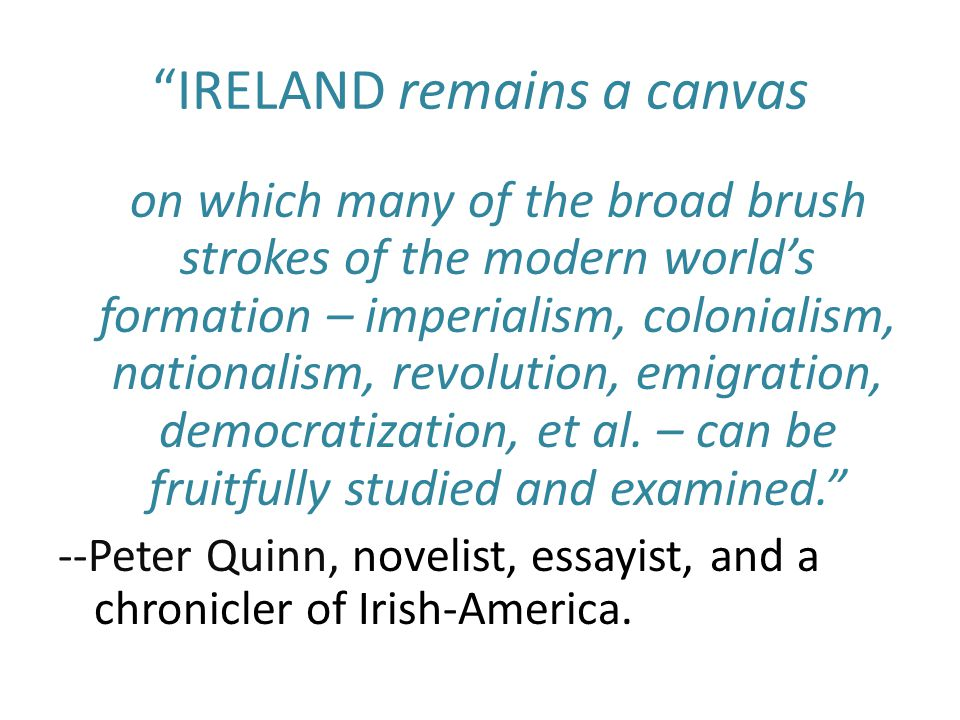 IRELAND remains a canvas