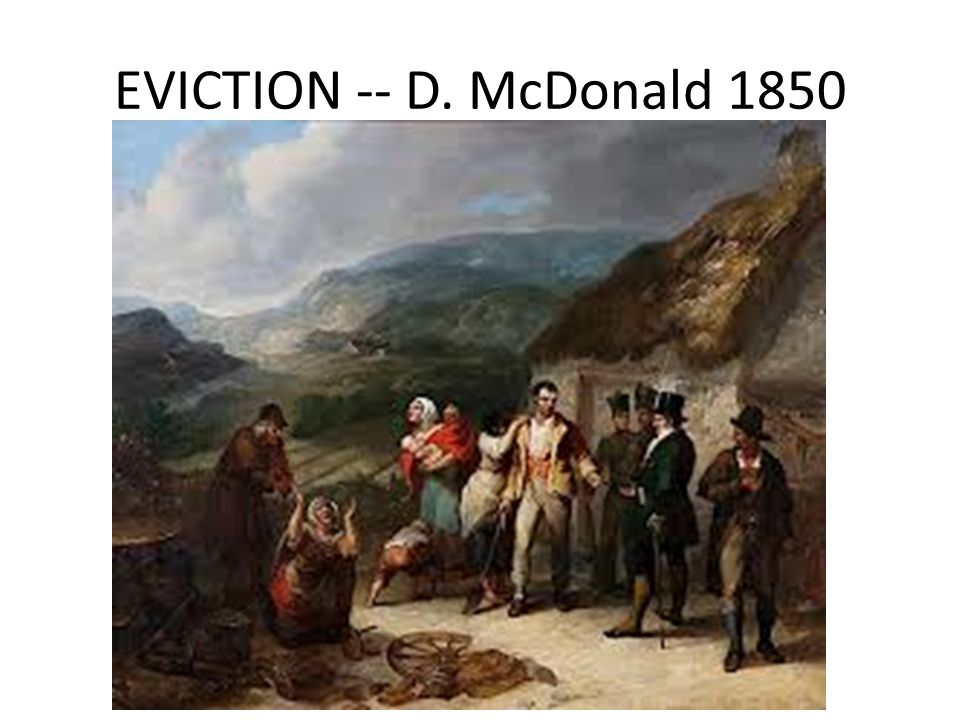 EVICTION -- D. McDonald 1850
