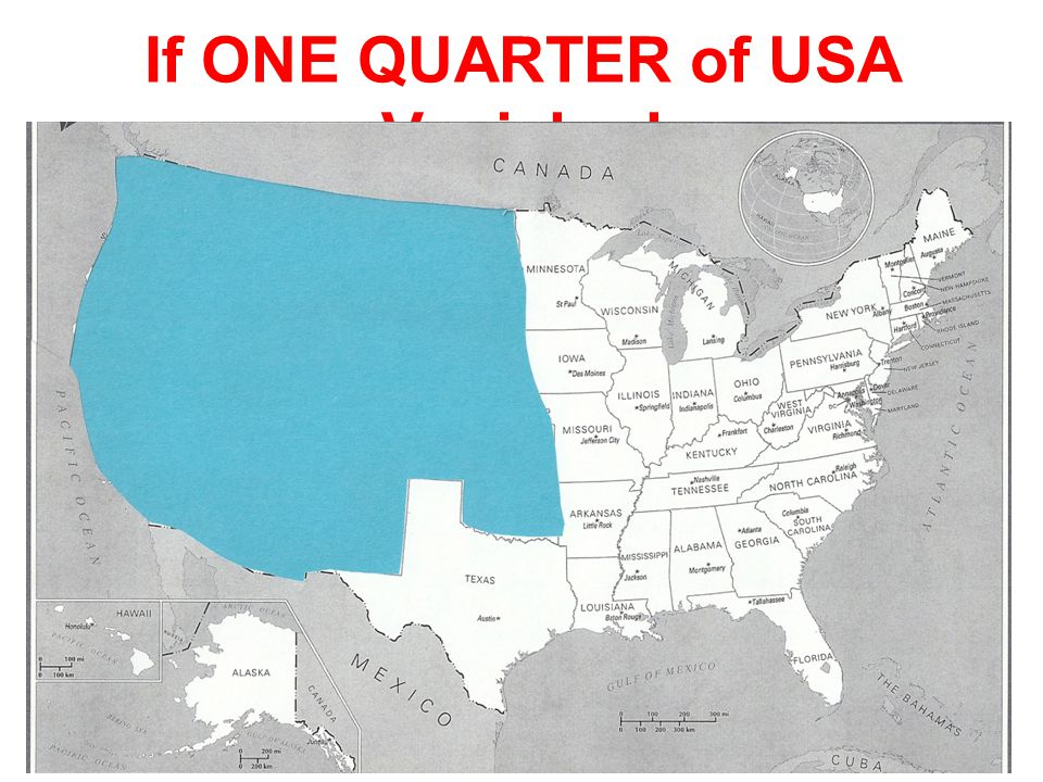 If ONE QUARTER of USA Vanished