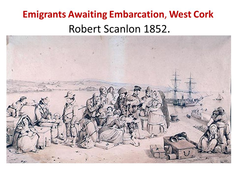 Emigrants Awaiting Embarcation, West Cork Robert Scanlon 1852.