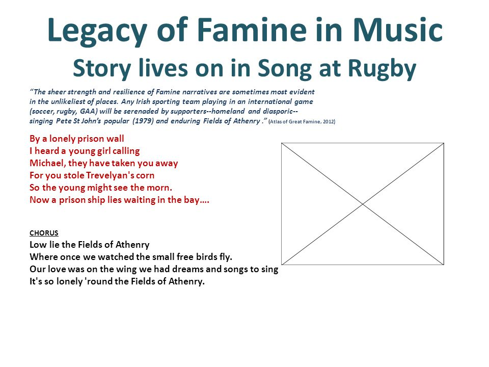 Legacy of Famine in Music Story lives on in Song at Rugby