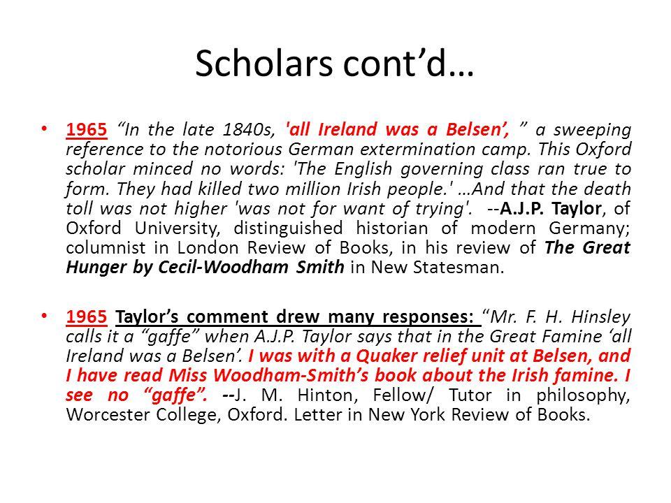 Scholars cont'd…