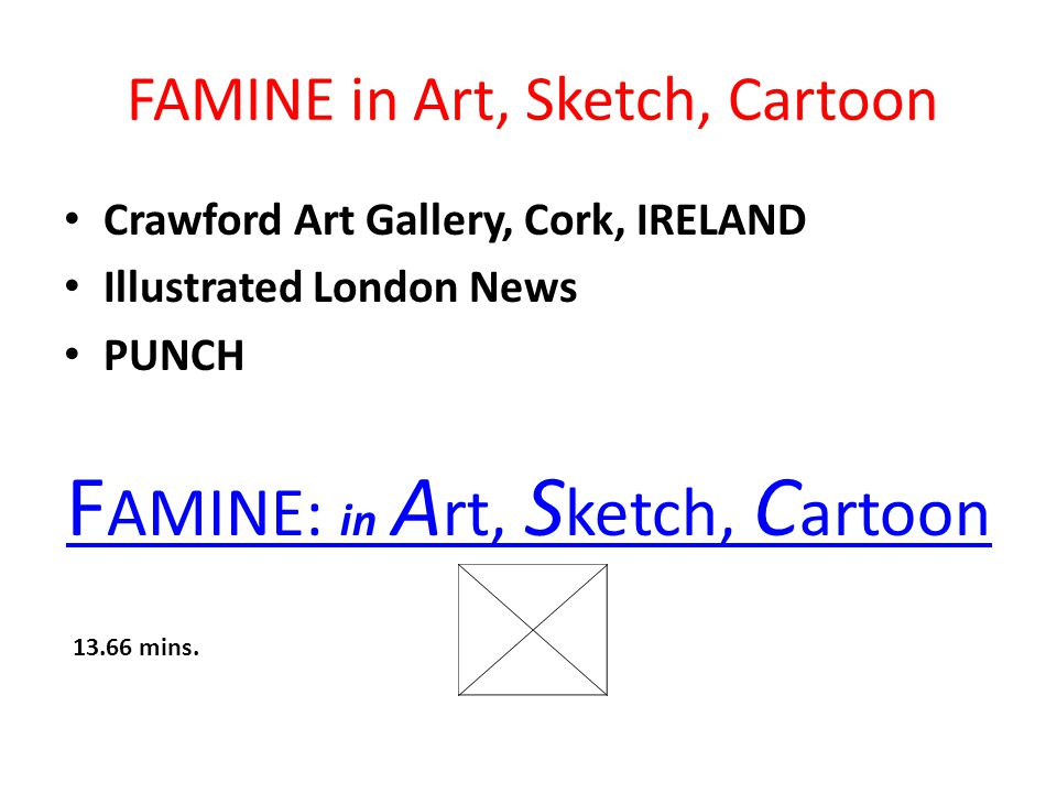 FAMINE in Art, Sketch, Cartoon