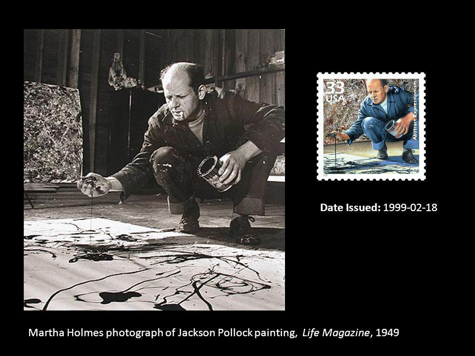 Date Issued: 1999-02-18 Martha Holmes photograph of Jackson Pollock painting, Life Magazine, 1949