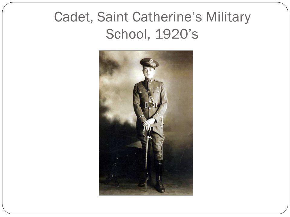 Cadet, Saint Catherine's Military School, 1920's