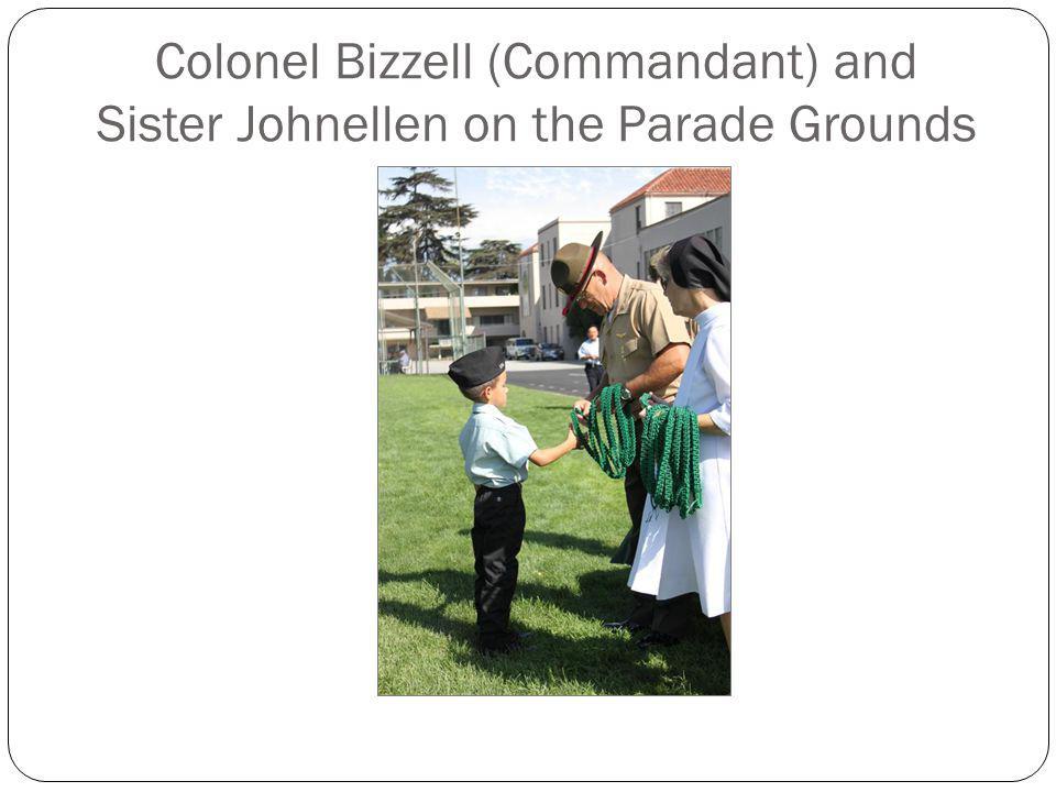 Colonel Bizzell (Commandant) and Sister Johnellen on the Parade Grounds