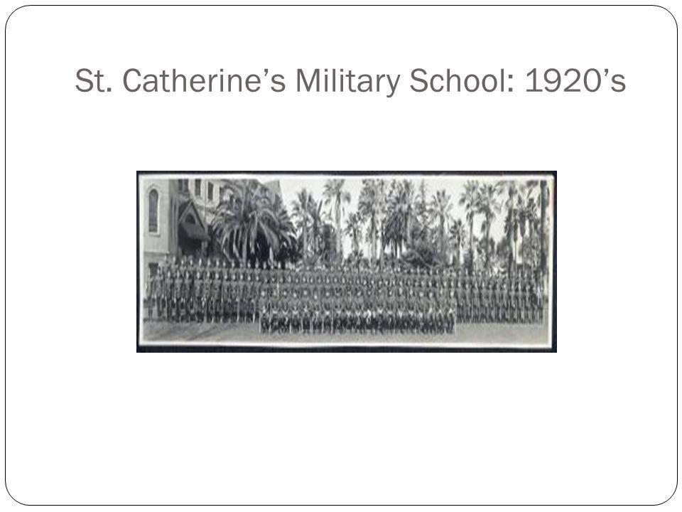 St. Catherine's Military School: 1920's