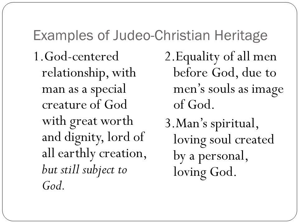 Examples of Judeo-Christian Heritage