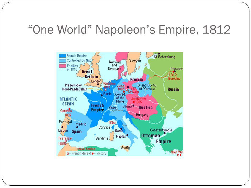 One World Napoleon's Empire, 1812