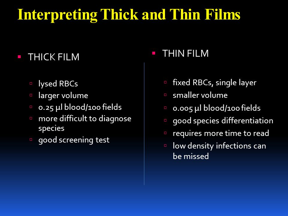 Interpreting Thick and Thin Films
