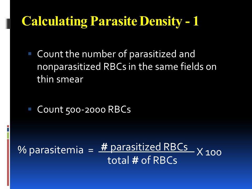 Calculating Parasite Density - 1