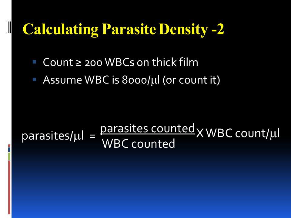 Calculating Parasite Density -2