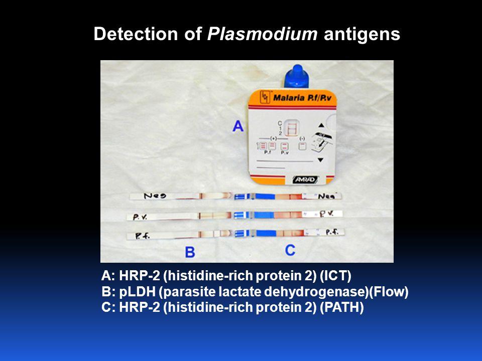 Detection of Plasmodium antigens