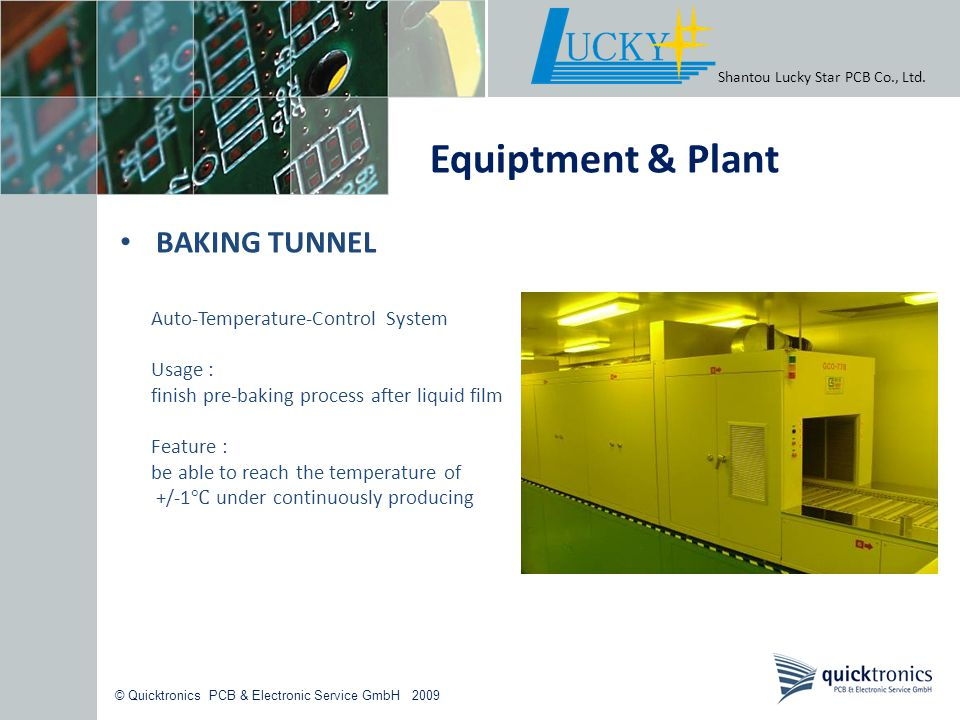 Equiptment & Plant BAKING TUNNEL Auto-Temperature-Control System