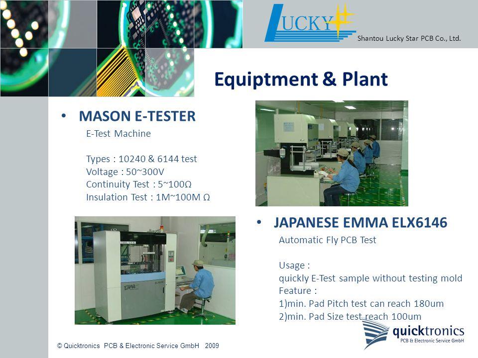 Equiptment & Plant MASON E-TESTER JAPANESE EMMA ELX6146 E-Test Machine