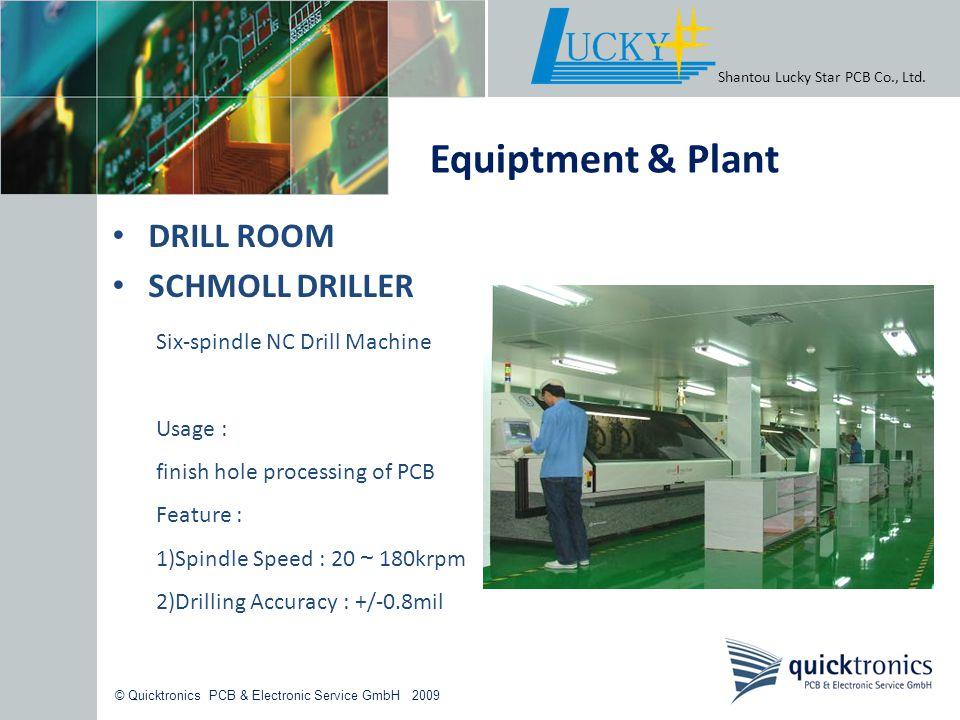 Equiptment & Plant DRILL ROOM SCHMOLL DRILLER