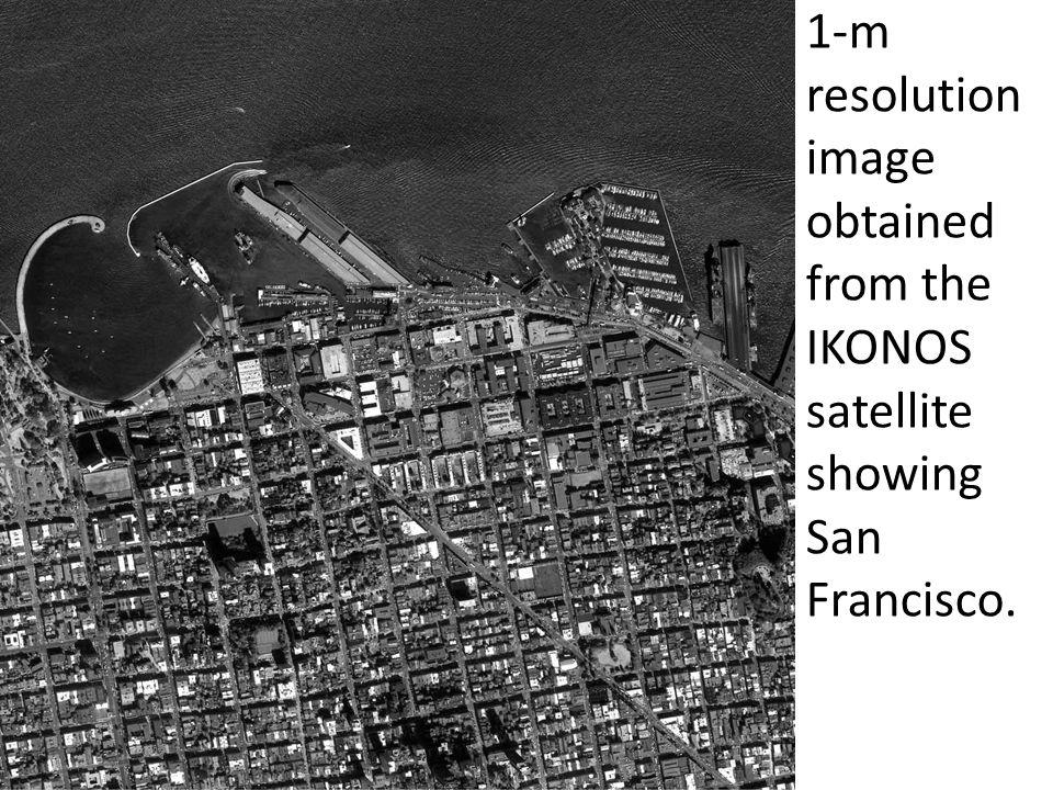 1-m resolution image obtained from the IKONOS satellite showing San Francisco.