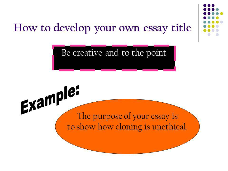 creative books for cloning essay