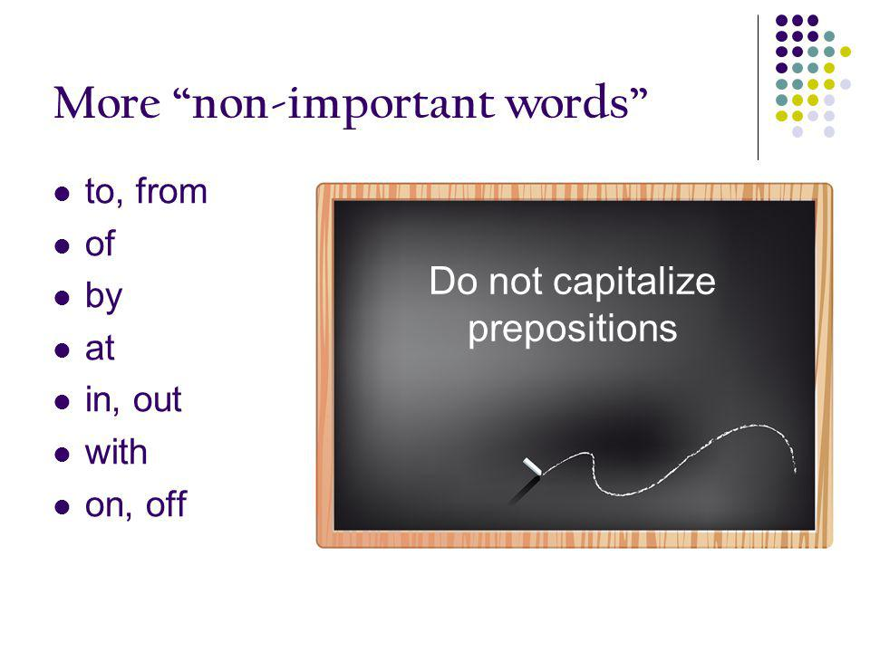 More non-important words