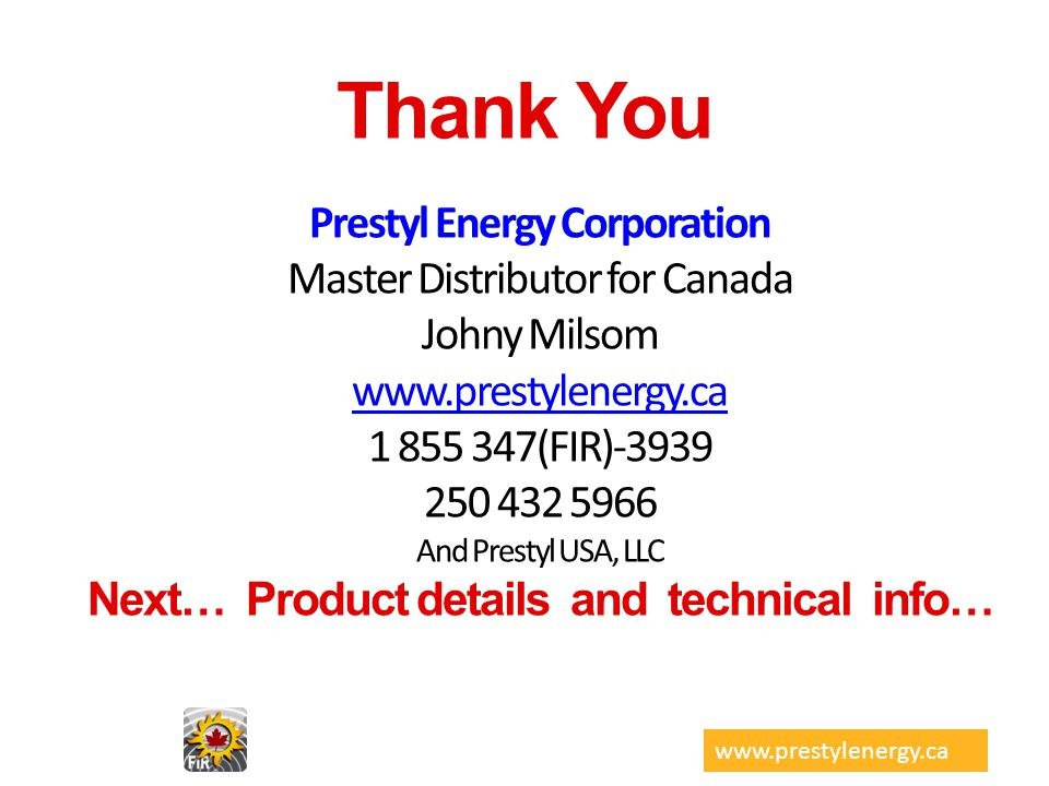 Prestyl Energy Corporation Next… Product details and technical info…