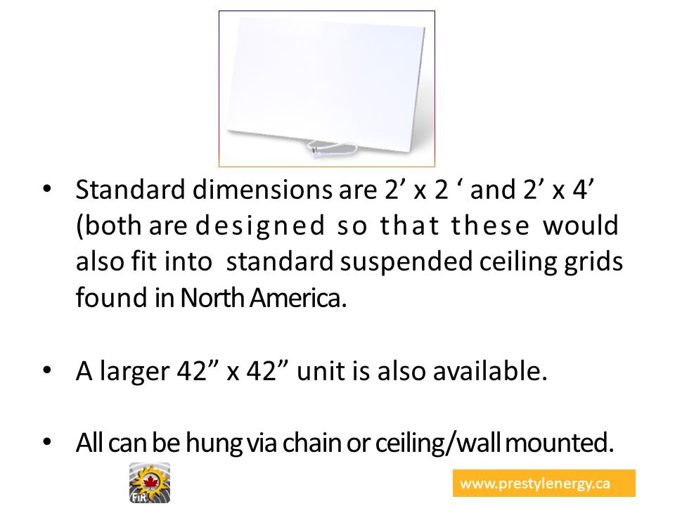 A larger 42 x 42 unit is also available.