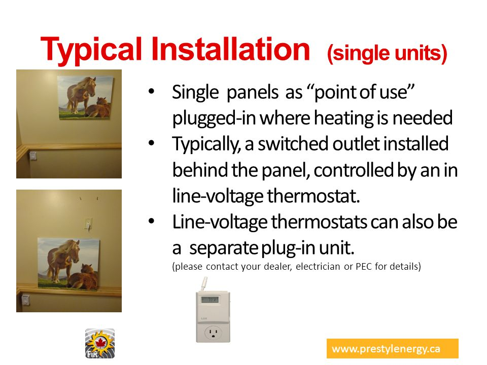 Typical Installation (single units)