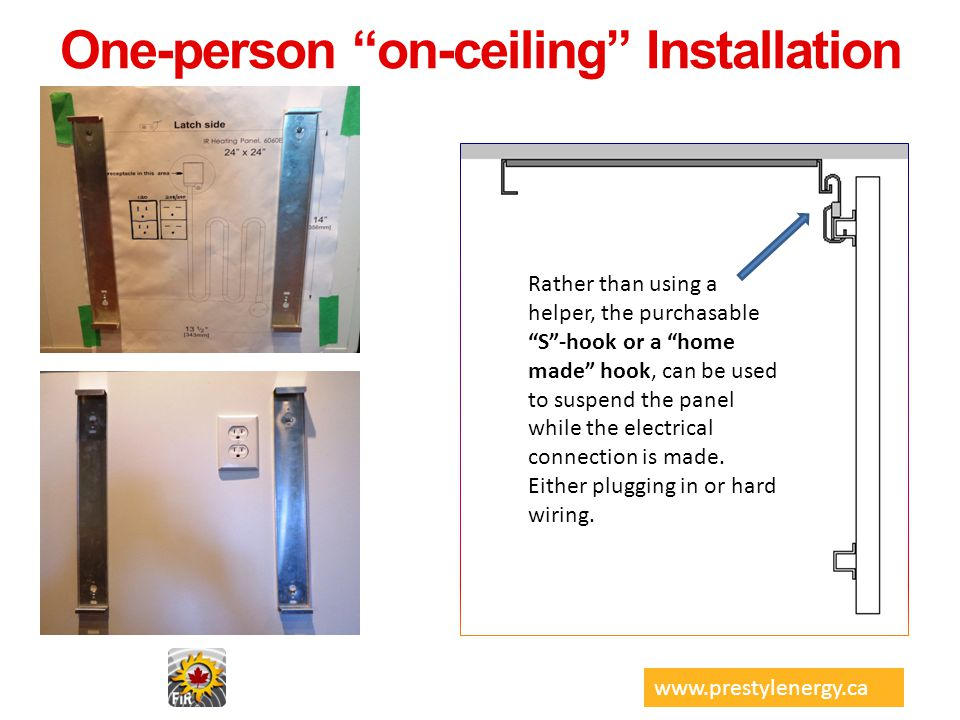 One-person on-ceiling Installation