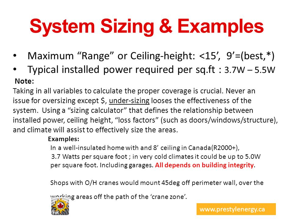 System Sizing & Examples