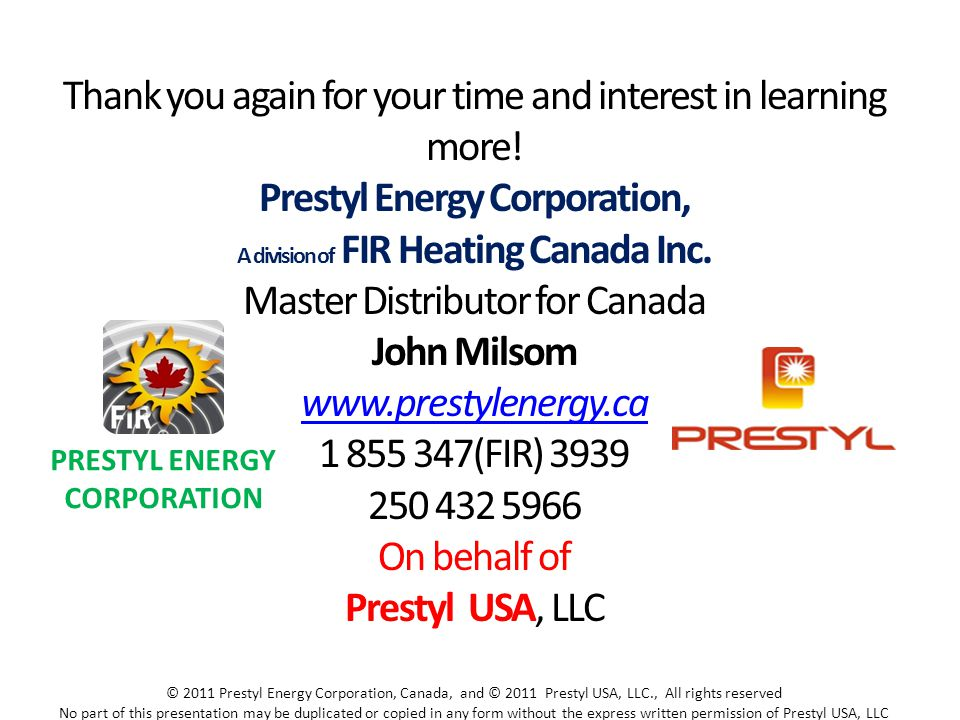 Prestyl Energy Corporation, John Milsom