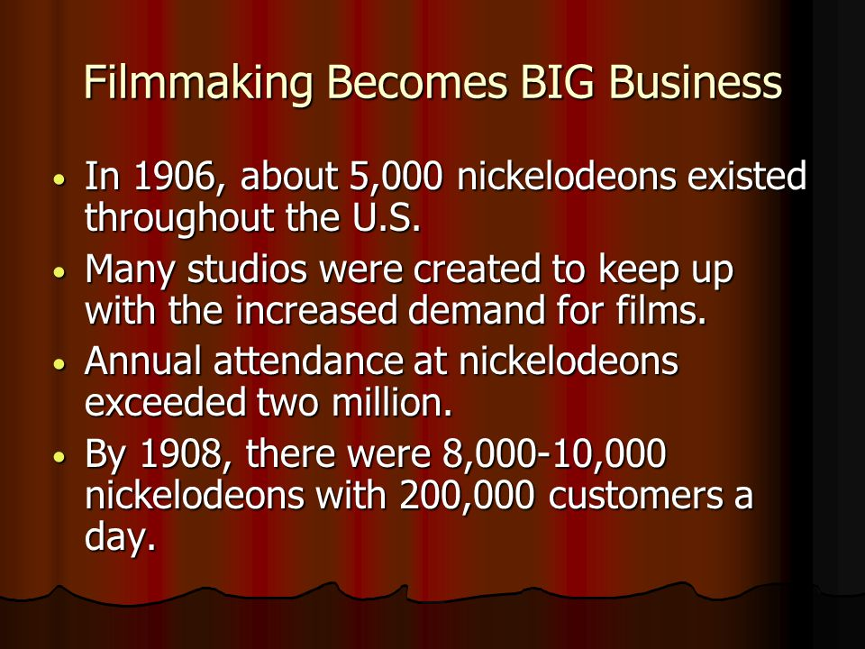 Filmmaking Becomes BIG Business