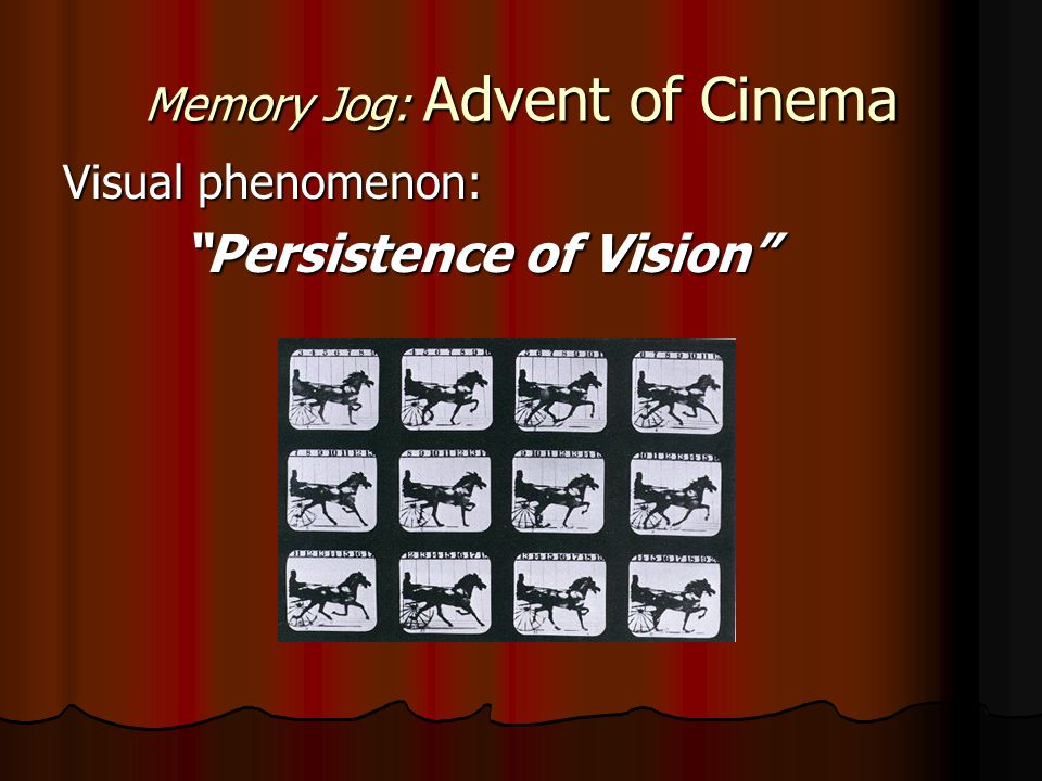 Memory Jog: Advent of Cinema