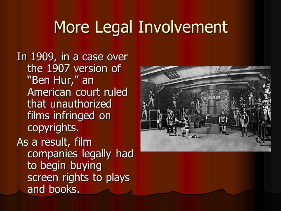More Legal Involvement