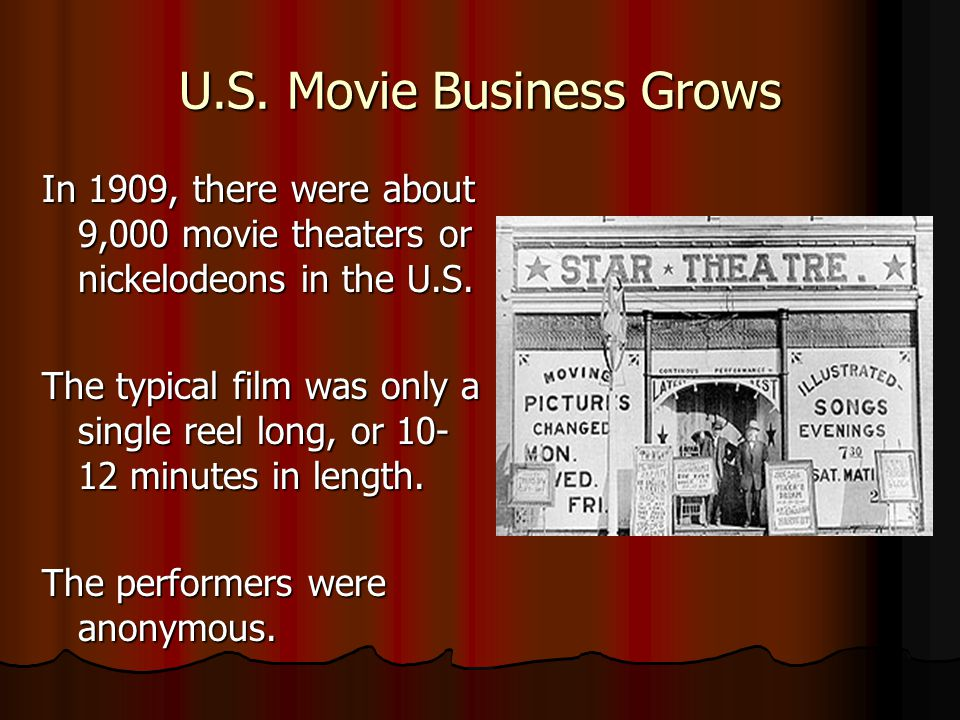 U.S. Movie Business Grows