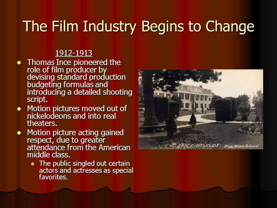 The Film Industry Begins to Change