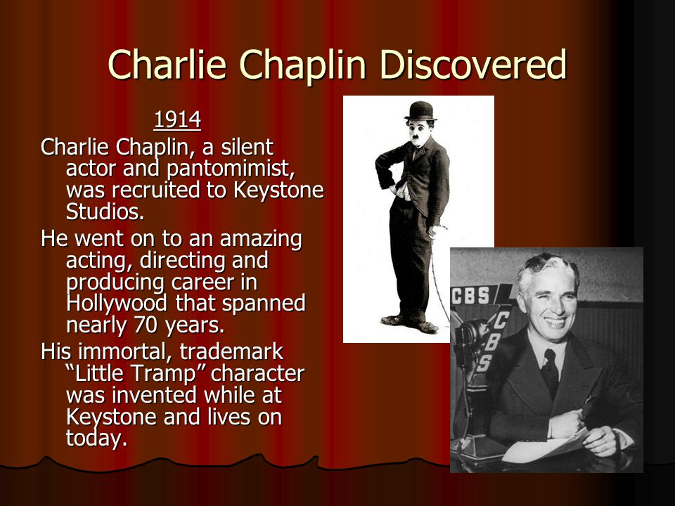 Charlie Chaplin Discovered