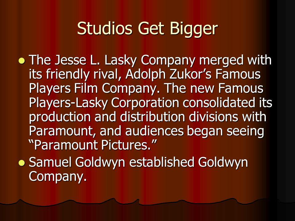Studios Get Bigger